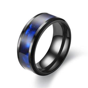 Blue Ring Fashion Titanium Steel Ring Man Retro Ring Stainless Steel For Women Men Jewelry