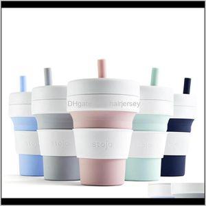 Tea Cups Cup Portable Travel Accompany Foldable Compression Eco-Friendly Coffee Iv3Xc Aeozk