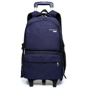Средние студенты вытягивают розничную школьную сумку шести колесные лестницы, восхождение мальчиков '6-9 младший Высокий' Рюкзак Снижение нагрузки и позвоночника