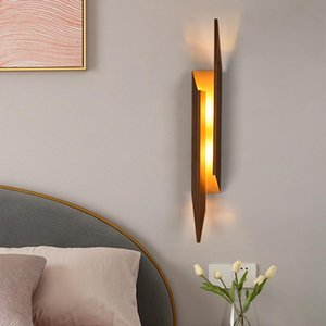 Wall Lamps Nordic Lamp Double-head Porch Aisle Background Bedroom Bedside Creative Personality Decorative