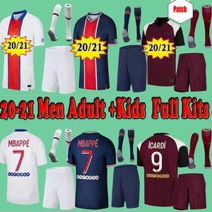Kids PSG  Paris saint germain kits 20 21 2020 2021 fútbol jersey Mbappé ICARDI Neymar JR camisa de hombres hijos conjuntos uniformes maillot de pie Hommes París