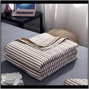 Comforters Sets Bedding Supplies Textiles Home & Garden Drop Delivery 2021 Air-Conditioned Thin Blankets For Beds Office Sofa Air Conditionin