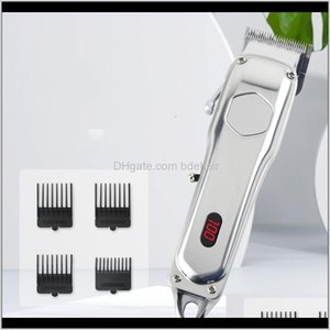 Trimmer Care & Styling Tools Hair Products Drop Delivery 2021 High-Quality Factory Direct Sale Fashion Style Retro Oil Head Shear Usb Digital