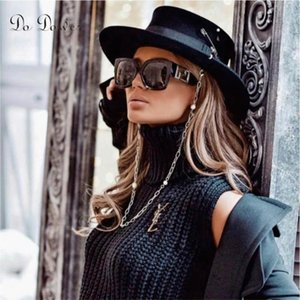 Gafas de sol modernas europeas y americanas Street Shooting INS Online Celebrity Model Square Femenina