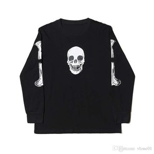 19SS Women Clothes Hoodie Skull Printed Cotton Hoodies Hip Hop Big Women Men Sweatshirts size M-XL