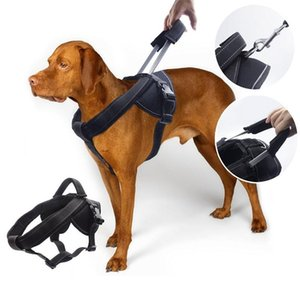Dog Collars & Leashes Pet Harness Reflective Soft Padded Large Training Vest Doggy Walking With Handle For Medium Breeds