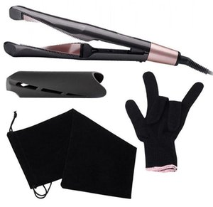 2021 Professional Hair Straight Flat Iron LED HairStraightener Twisted Plate 2 in 1 Ceramic Curling Irons for All Types Salon Tools