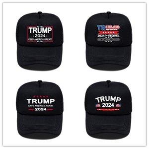 Turmp 2024 Amerikan Cumhurbaşkanlığı Seçim Kadın erkek Siyah Topu Kapaklar Unisex Mektuplar Baskılı Açık Seyahat Spor Visor Sun Hats GG33HL9H