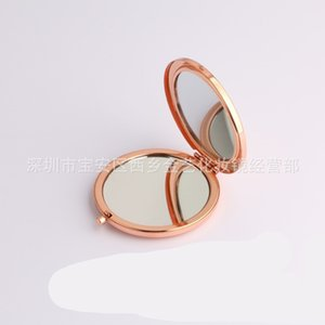 Metal Compact Mirror Makeup Foundation Foldable Hand Mirrors Base Double Sides Circle Lookingglass Stainless Steel Cosmetic 4 3jy C2 2XHT