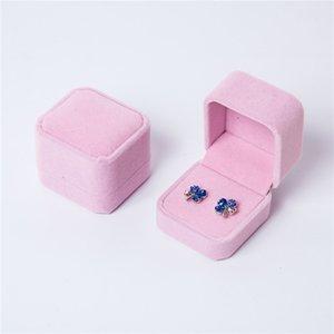 Moda de anel de noivado caixa de casamento jóias brinco titular porta armazenamento caixa de embalagem para jóias jewerly empacotando 925 Q2