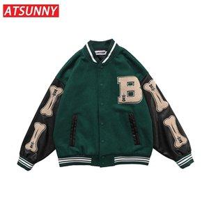 ATSUNNY Winter Coat Men Hip Hop Baseball Jacket Harajuku Retro Varsity Casual Fashion Streetwear Tops 210819