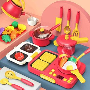 kitchen Simulation Play House KitchenChildren's toys little girl cooking set baby 3-4 years old simulation kitchenware Man 2Snack Food Cogni