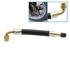 Tire Inflation Repair Kit Tools Flexible Rubber Valve Extension 90 Degree Bent Swivel End Brass Stem 5 8 11 inch Professional Vehicle Tyre Inflation-Tool