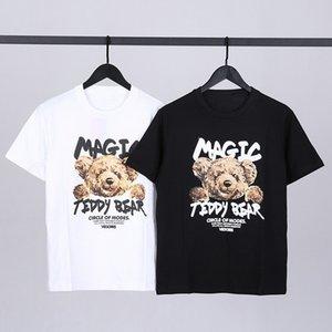 Neue Männer Frauen Cartoon Anime Bär Druck Kurzarm T-Shirt Sommer Jugend Student Street Hip-Hop Casual Baumwolle Lose T-Shirt Tops