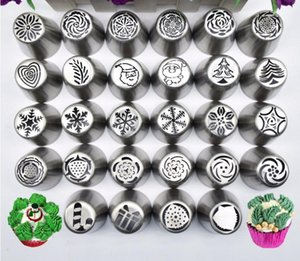 30piece set Christmas Design Icing Piping Tips Set Cake decorating Supplies Russian Nozzles Pastry Baking Tool SN1581 TNS0