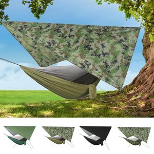 Shade Portable Outdoor Camping Automatic Speed Opening Hammock With Mosquito Net Fabric Hanging Bed Hunting Sleeping Swing