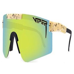 2021 lunettes de soleil à l'équitation à la mode Grand cadre Couleur lumineuse Vrai Vrai Polarize 020