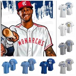 2020 Kansas City Honra Negro Ligas Monarchs Salvador Perez 2020 Asa Lacy Whit Merrifield Alex Gordon Maikel Franco Dozier Soler Jersey