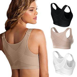 Позола корректор корректор для тела женские бюстгальтеры дышащее нижнее белье ударопрочный спортивный жилет Bras S-5XL плюс размер