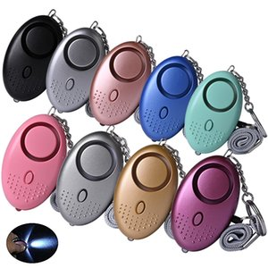 130db Egg Shape Self Defense Alarm Girl Women Security Protect Alert Personal Safety Scream Loud Keychain Alarm 1236 V2