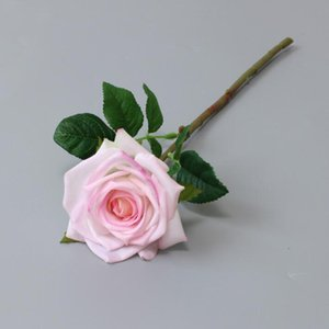 Multicolor Moisturizing Rose Flower Single Stem Good Quality Artificial Flowers For Wedding Decorations EEB6096