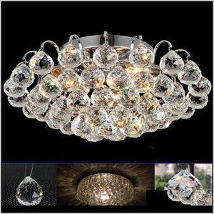 Decorations Clear Glass Crystal Ball Lamp Prism Pendant Fengshui Suncatcher Faceted Hanging Ornament 60Mm Chandelier H Wmtkge Nzxv9 Oudjc