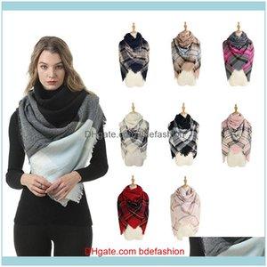 Wraps Hats, шарфы перчатки AESSOOSOOSWOMEN зимний плед мода квадрат теплые вязаные одеяло шаль открытый причинно-следственный путешествие кисточка лыжный шарф TT