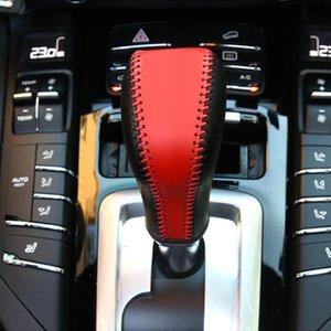 Console Кожаный Центр Шестерна для Сдвиг Ручка Украшения Автомобиля Оформление Подлинная Отделка Аксессуары Porsche Cayenne 2011-17 Крышка Рукава PLLXH