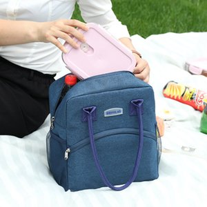 New Portable Lunch Bag Thermal Insulated Lunch Box Tote Cooler Handbag Bento Pouch Dinner Container School Food Storage Bags DBC BH3101