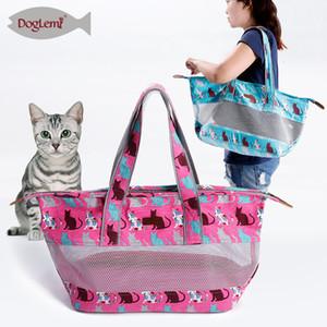 Portable Pet Mesh Breathable Cat Dog Bag Summer Backpack