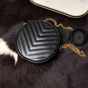 classic V shape women caviar Round cakes packages single shoulder crossbody bags ladies mini package handbags purse