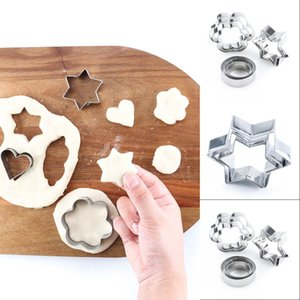 12pcs Stainless Steel Geometric Classic Shape Biscuit Cookie Cutters Set Cake Mould Sugarpaste Decorating Pastry 609 S2