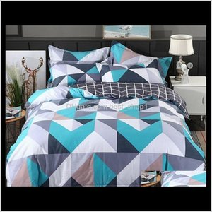 Sets Supplies Textiles Garden Drop Delivery 2021 Wholesale 100Percent Modern Geometric Bedding 4 Pcs 36S Home Sateen Cotton 200Tc Duvet Pillo