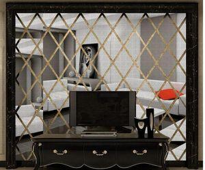 DIY 3D 거울 벽 스티커 아크릴 아트 침실 거실 홈 장식 데칼 벽화 탈착식 모드 BBYZRD BDESPORTS ON77