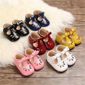2021Leather Princess Baby Non-slip Shoes First Walkers Toddler Soft Soled Pre-walker Leather dhl