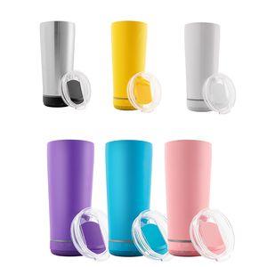 11 ألوان 18 أوقية زجاجة المياه الذكية المتكلم الفولاذ المقاوم للصدأ الموسيقى بهلوان كأس لاسلكية المتكلمين في الهواء الطلق المحمولة القدح للسفر المنزل