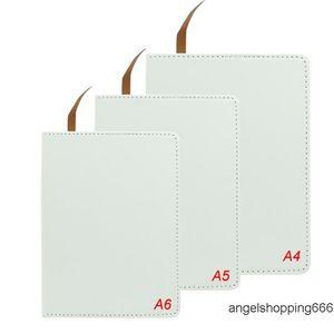 التحريك الكامل التسامي دفتر A4 A5 A6 فارغة الأبيض نقل الحرارة الطباعة الطباعة المفكرة ل diy طالب ملاحظة كتاب مع صفحات scho 1