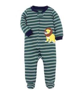 2021 Winter Baby Girl Boy Rompers Infant born long sleeve footies born Boys sleep pajamas 0-12 m Baby Cartoon Clothes
