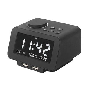 Digital Alarm Clock Radio 5 Brightness Setting Dual Adjustable Volume FM 2 USB Charging Ports Temperature Display Other Clocks & Accessories