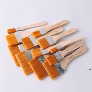 NEWHigh Quality Nylon Paint Brush Different Size Wooden Handle Watercolor Brushes For Acrylic Oil Painting School Art Supplies RRE10721