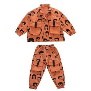 Clothing Sets Boy Suit Boys Kids Children Clothes Spring Autumn Cotton Long Sleeve Jackets Coats Trousers Pants 2Pcs 2-8Y B4789
