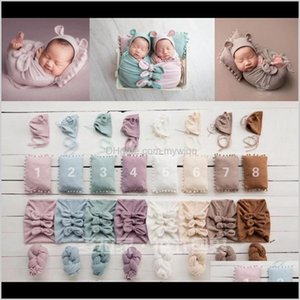 Blankets Swaddling Nursery Bedding Baby, Kids & Maternity Drop Delivery 2021 5Pcs Set Soft Born Props Pography Set ,Cute Baby Wrap For Po Stu