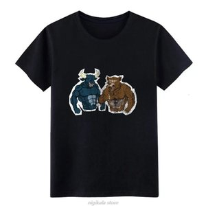 boys tee bull bear trader trading stock exchange gift t shirt men Customized cotton S-XXXL Formal Anti-Wrinkle Funny Summer Style tshirt [<c