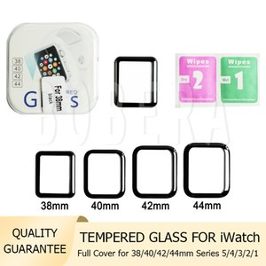 3D Curved Tempered Glass 9H Explosion Full Cover Protective Guard Film Screen Protector for iWatch Series 5 4 3 2 1 40mm 44mm 38mm 42mm with Retail Box