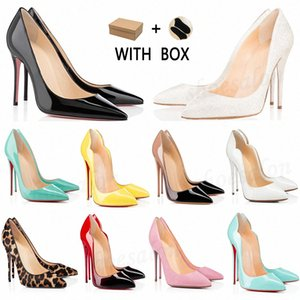 2021 Red Bottom Women Dress shoes Heels high Dust Bag Round Pointed Toes Bottoms Spikes Vintage Studded Luxurys Designers Sneakers c1vh#