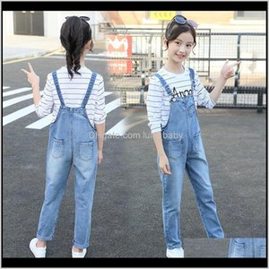 Kids Teens Denim Long Jumpsuit Overalls Playsuit For Girls School Jeans Jumpsuits Romper Clothes Outfits 14 Years 0Frv9 Qjaqy