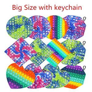 Big Size Pop It Push Bubble Fidget Toys Hot Adult Stress Relief Toy Antistress PopIt Soft Squishy Anti-Stress Gift Box Poppit