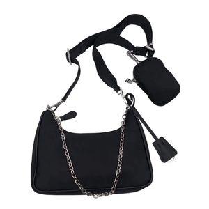 sac à bandoulière de mode pour les femmes sac messenger bourse presbytes Chains Pack poitrine dame fourre-tout de sac de toile de sac à dos