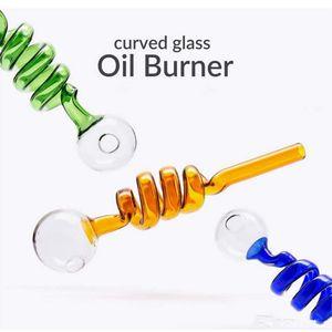 Стеклянные трубы боросиликатные весенние барбочники Beaker Bong Pyrex нефтяной горелка DAB Beg Spiral Bubble Bongs Bowl Diameter Ball Balancer фитинги для курения аксессуары