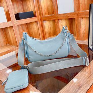 2021 SS Luxurys Designers Women nylon bag handbags Shoulder bags Tow in one lady Fashion Handbag All match classic ladies Cross body-handbag